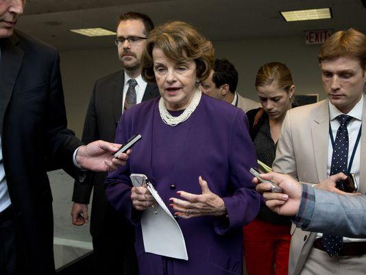 La senatrice democratica Diane Feinstein responsabile della Commissione di Vigilanza sui servizi d'informazione