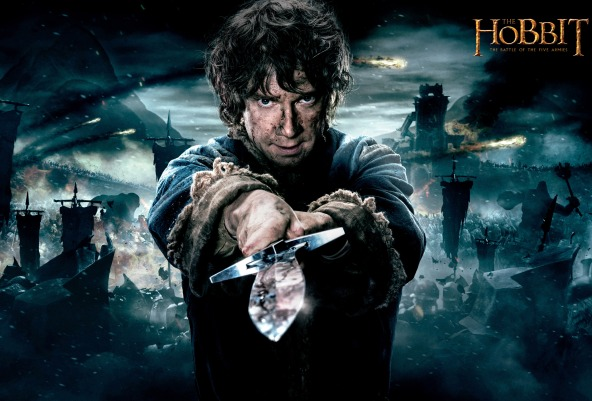 The Hobbit - The Battle of the Five Armies: Martin Freeman nel ruolo di Bilbo Baggins.