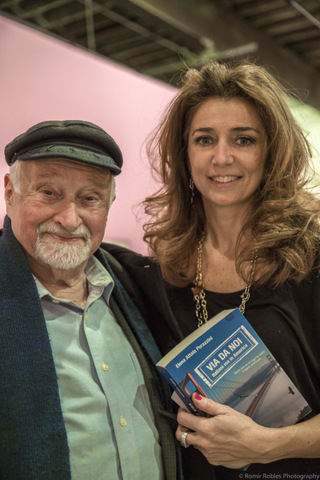 Writer Elena Attala-Perazzini with playwright Mario Fratti