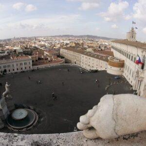 Veduta panoramica del Quirinale, sede della Presidenza della Repubblica italiana