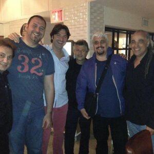 Pino Daniele alla pizzeria napoletana Ribalta, nel West Village, nel 2013