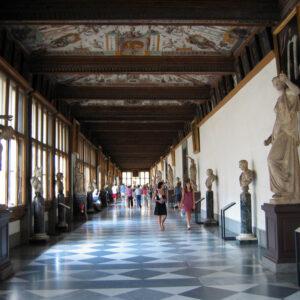 Gli Uffizi, a Firenze