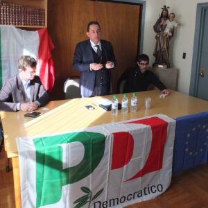Sergio Gaudio, l'On. Gianni Pittellla e Andrea Mattiello