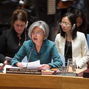 L'assistente del segretario generale per gli affari umanitari e vice coordinatrice dei soccorsi d'emergenza, Kyung-Wha Kang. Foto ONU / Loey Felipe