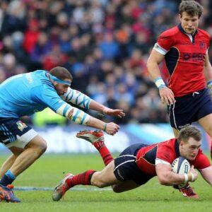 Un momento della partita di sabato a Edimburgo. Foto: Ansa/AP
