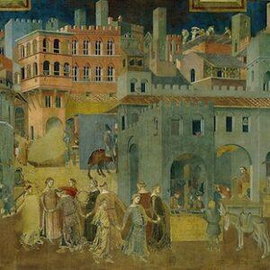 Nel palazzo del Comune di Siena, il celebre affresco di Ambrogio Lorenzetti 'Effetti del Buono e del Cattivo Governo (1338-1339)'