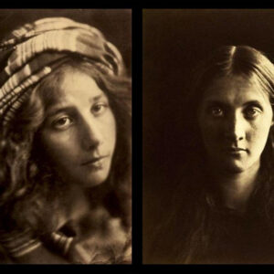 Due ritratti di Julia Margaret Cameron. A sinistra: A Study of the Cenci, 1868. A destra: Julia Stephen