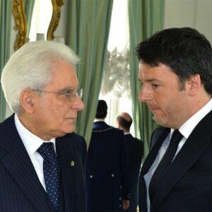 Il Presidente della Repubblica Sergio Mattarella con il Presidente del Consiglio dei ministri Matteo Renzi