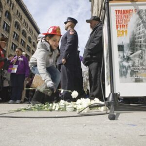 Workers United [formerly the ILGWU] commemorates the 100th Anniversary of the Triangle Shirtwaist Factory Fire, 2011. Photo: RJ Mickelson