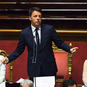 22 Aprile 2015. Il Presidente del Consiglio, Matteo Renzi, in Aula al Senato (Foto Palazzo Chigi - Tiberio Barchielli)
