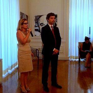 La Console Generale Natalia Quintavalle presenta il Ministro della Giustizia Andrea Orlando