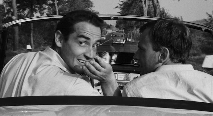VIttorio Gassman e Jean-Louis Trintignant nel film di Dino Risi 'Il Sorpasso' (1962)