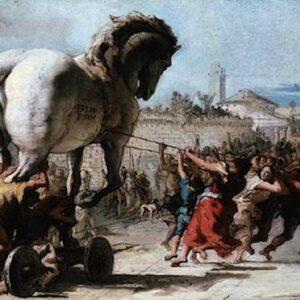 Giovanni Domenico Tiepolo, Processione del Cavallo di Troia, 1773.