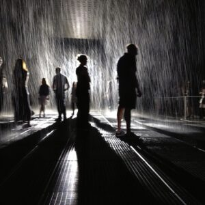 Rain Room, 2013, The Museum of Modern Art. Photo: Stefano Ravalli, Flickr