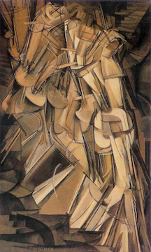 Marcel Duchamp, Nude Descending a Staircase, 1912, Oil on Canvas