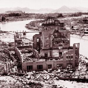 I resti del Genbaku Dome dopo il bombardamento, presso l'Hiroshima Peace Memorial. Foto: UN
