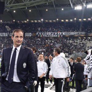 Nella foto Ansa: l'allenatore della Juventus Allegri
