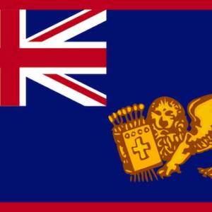 La bandiera degli Stati Uniti delle Isole Ionie