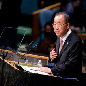 Il segretario generale ONU Ban Ki-moon ha aperto i lavori del UN Sustainable Development Summit. Foto: UN Photo/Kim Haughton