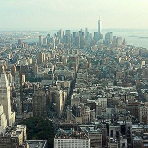 New York dall'Empire State Building. Downtown