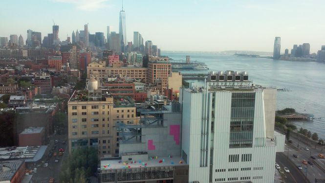 View with the Whitney Museum from the Standard Hotel