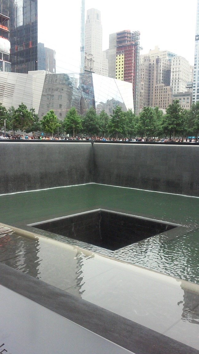 Ground zero. The 9/11 Memorial.