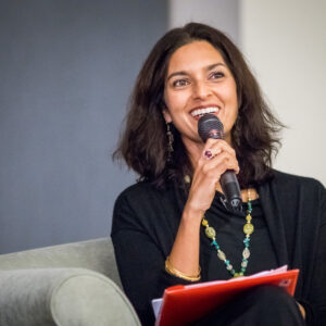 La scrittrice Jhumpa Lahiri alla Montclair State University. Foto: Mike Peters