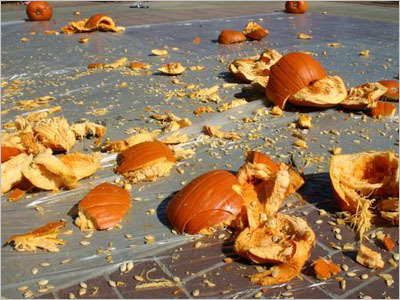 smashed pumpkins New York