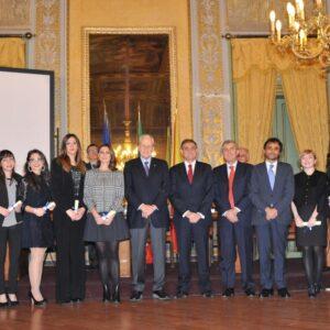 I vincitori delle borse di studio. Al centro, Leonardo Guarrotta e Giovanni Ardizzone