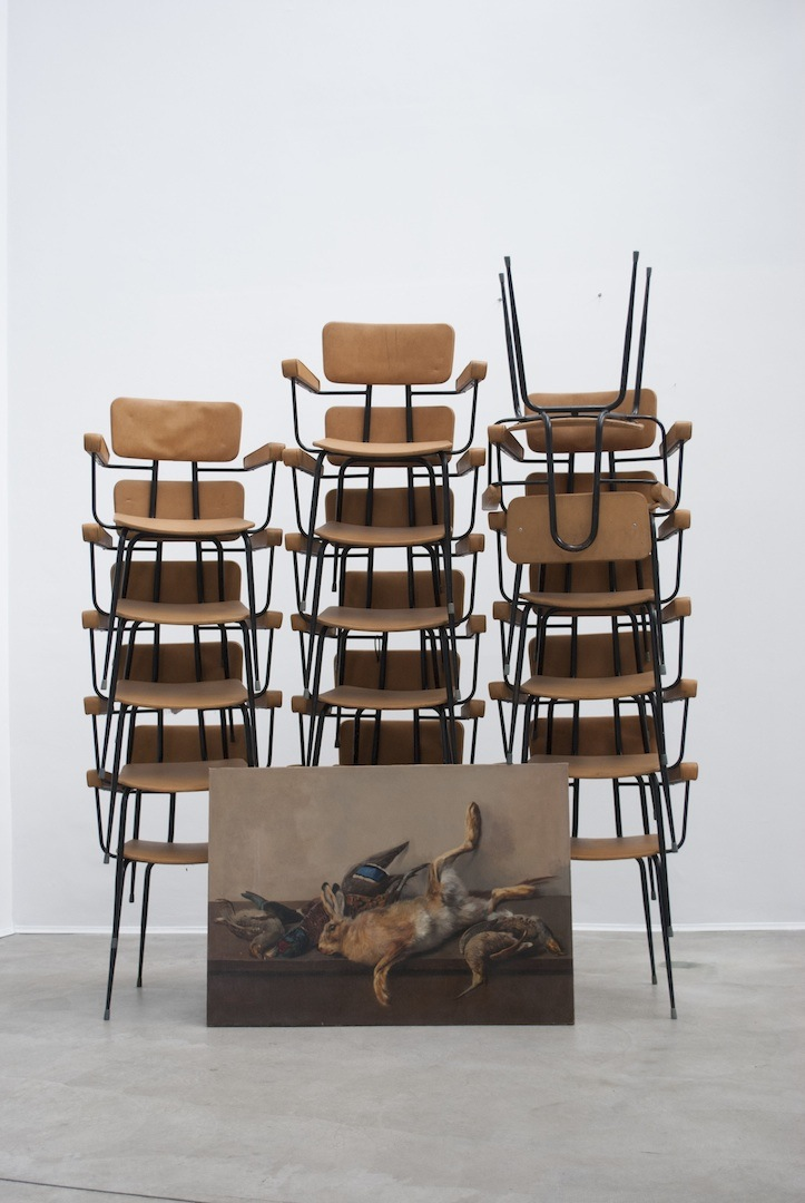 Still life, 2015, oil painting and chairs of leather